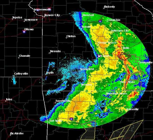 Radar Image for Severe Thunderstorms near Thomasville, MO at 10/21/2019 3:06 AM CDT