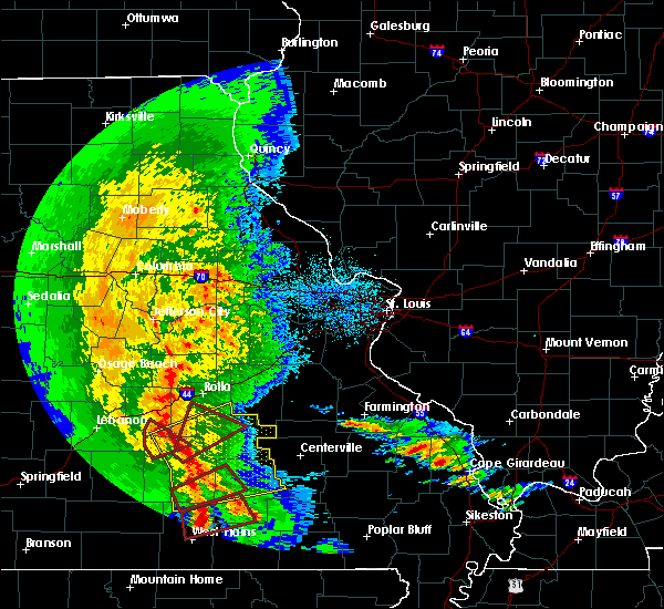 Radar Image for Severe Thunderstorms near Bunker, MO at 10/21/2019 3:05 AM CDT