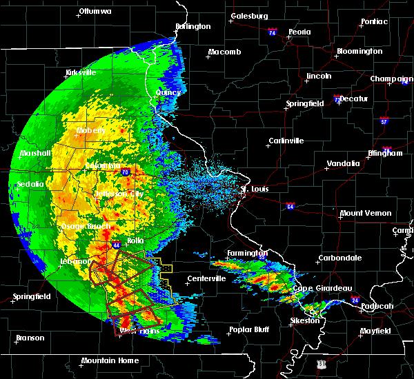 Radar Image for Severe Thunderstorms near Salem, MO at 10/21/2019 3:05 AM CDT