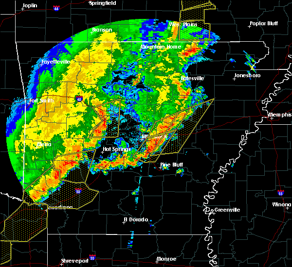 Radar Image for Severe Thunderstorms near Carlisle, AR at 10/21/2019 3:07 AM CDT
