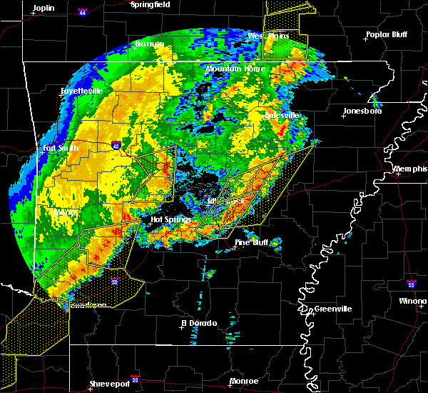 Radar Image for Severe Thunderstorms near Perryville, AR at 10/21/2019 3:12 AM CDT