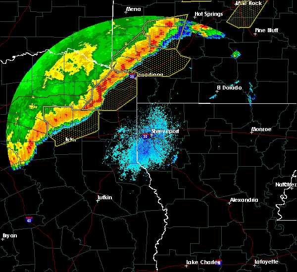Radar Image for Severe Thunderstorms near Queen City, TX at 10/21/2019 3:14 AM CDT