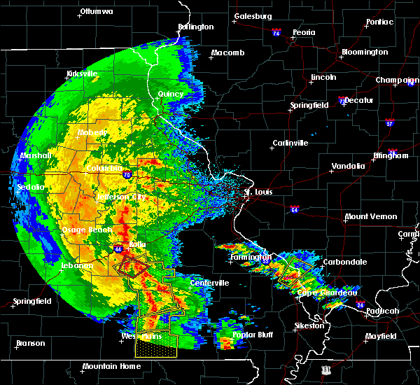 Radar Image for Severe Thunderstorms near Bunker, MO at 10/21/2019 3:16 AM CDT