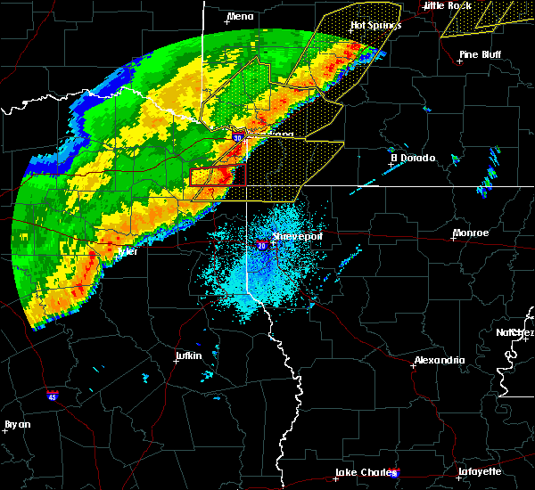 Radar Image for Severe Thunderstorms near Texarkana, TX at 10/21/2019 3:33 AM CDT