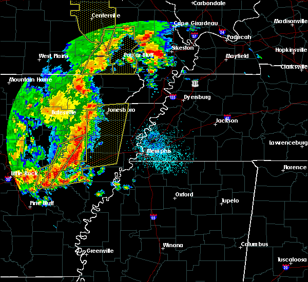 Radar Image for Severe Thunderstorms near Marked Tree, AR at 10/21/2019 3:44 AM CDT