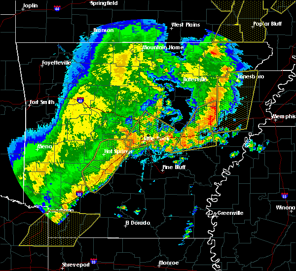 Radar Image for Severe Thunderstorms near McAlmont, AR at 10/21/2019 3:48 AM CDT