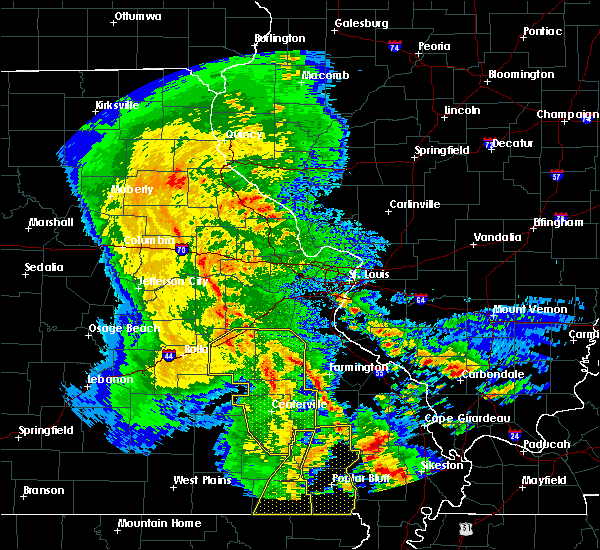 Radar Image for Severe Thunderstorms near Waterloo, IL at 10/21/2019 3:47 AM CDT