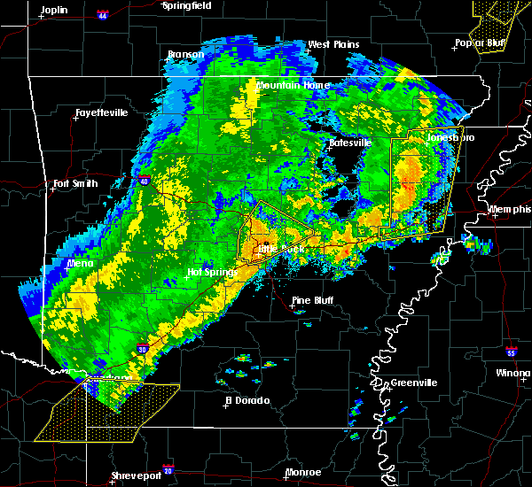 Radar Image for Severe Thunderstorms near McAlmont, AR at 10/21/2019 4:06 AM CDT