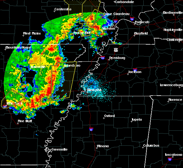 Radar Image for Severe Thunderstorms near Trumann, AR at 10/21/2019 4:06 AM CDT