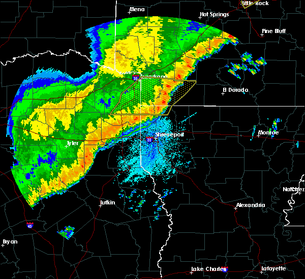 Radar Image for Severe Thunderstorms near Stamps, AR at 10/21/2019 4:19 AM CDT