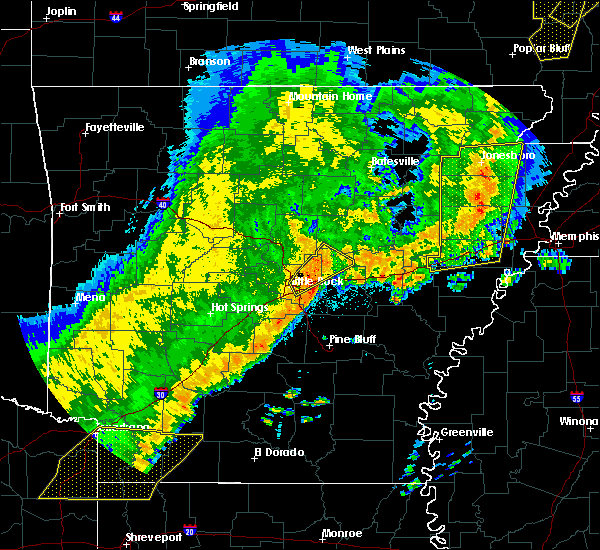 Radar Image for Severe Thunderstorms near McAlmont, AR at 10/21/2019 4:20 AM CDT