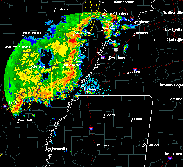 Radar Image for Severe Thunderstorms near Blytheville, AR at 10/21/2019 4:29 AM CDT