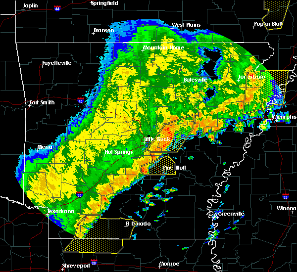 Radar Image for Severe Thunderstorms near White Hall, AR at 10/21/2019 4:34 AM CDT