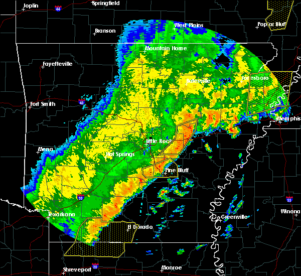 Radar Image for Severe Thunderstorms near White Hall, AR at 10/21/2019 4:46 AM CDT