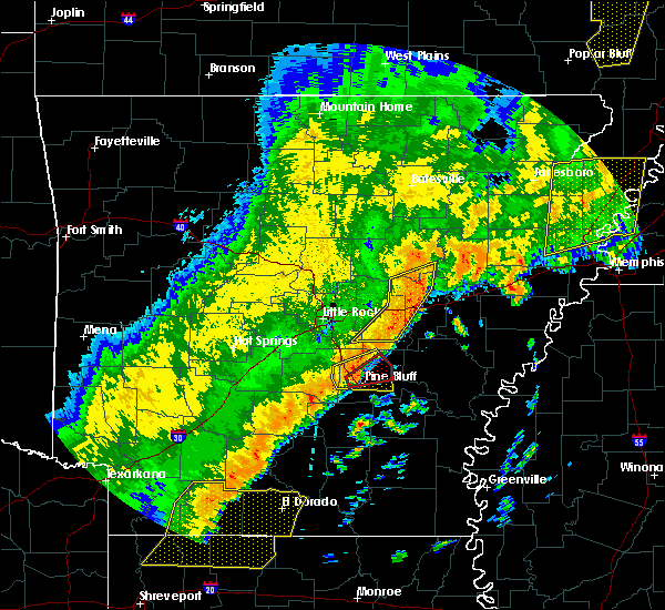 Radar Image for Severe Thunderstorms near White Hall, AR at 10/21/2019 4:49 AM CDT