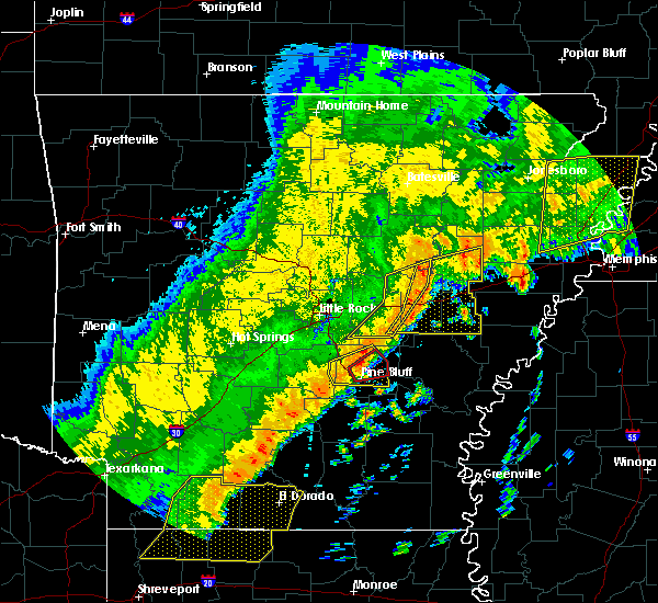 Radar Image for Severe Thunderstorms near White Hall, AR at 10/21/2019 4:51 AM CDT