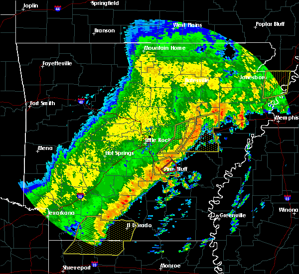 Radar Image for Severe Thunderstorms near Kingsland, AR at 10/21/2019 4:58 AM CDT