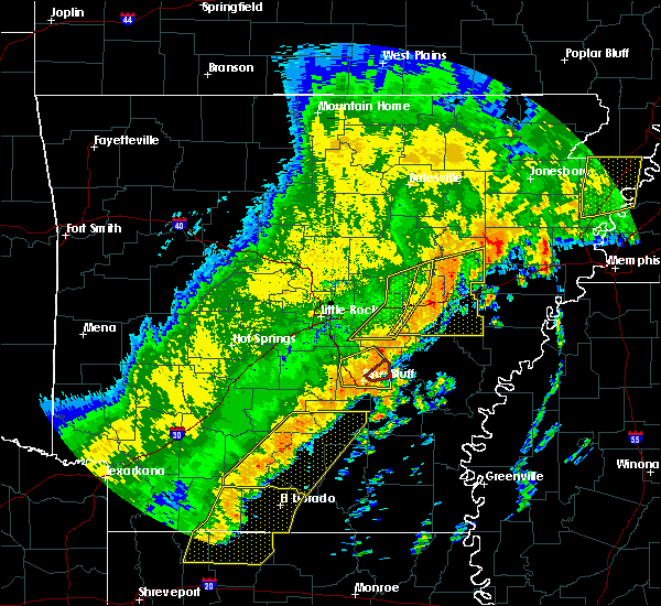Radar Image for Severe Thunderstorms near Altheimer, AR at 10/21/2019 5:05 AM CDT