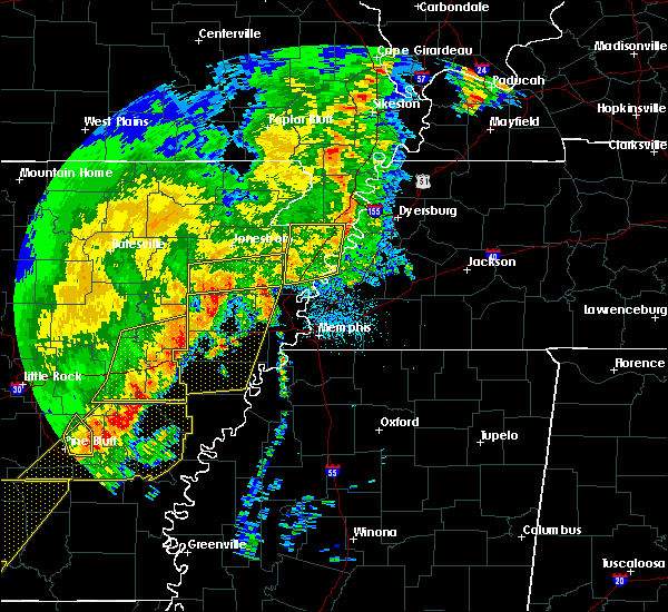 Radar Image for Severe Thunderstorms near Trumann, AR at 10/21/2019 5:14 AM CDT