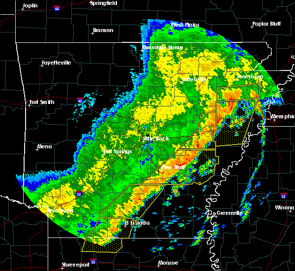Radar Image for Severe Thunderstorms near Roe, AR at 10/21/2019 5:16 AM CDT