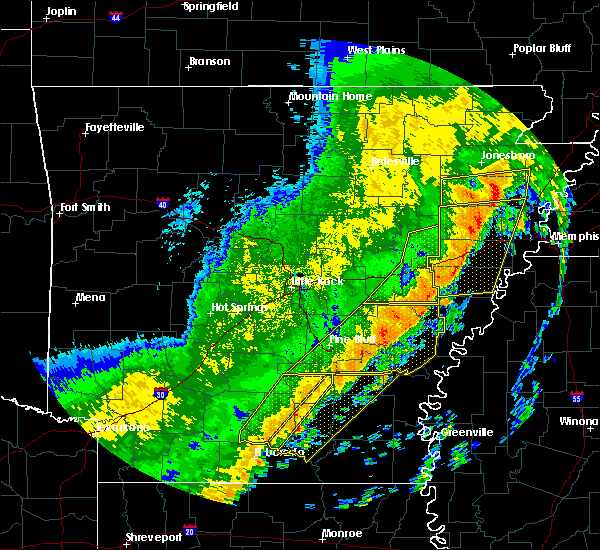 Radar Image for Severe Thunderstorms near Roe, AR at 10/21/2019 5:37 AM CDT