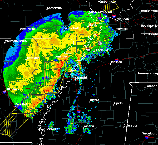 Radar Image for Severe Thunderstorms near Blytheville, AR at 10/21/2019 5:47 AM CDT