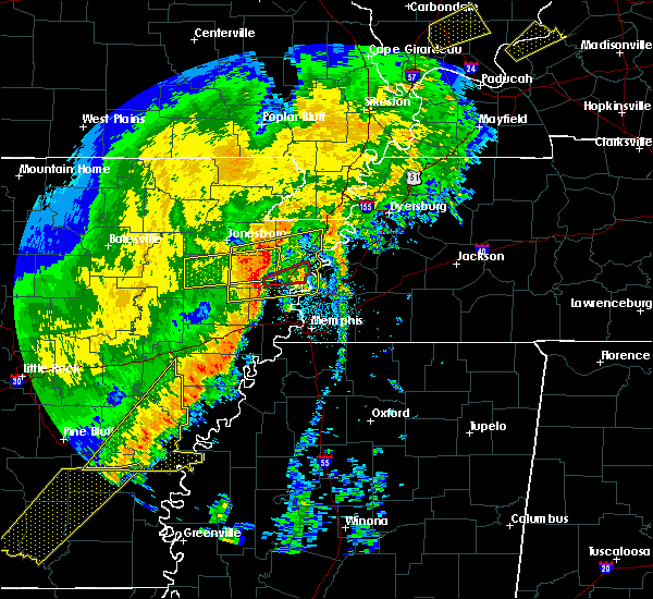 Radar Image for Severe Thunderstorms near Tyronza, AR at 10/21/2019 5:55 AM CDT