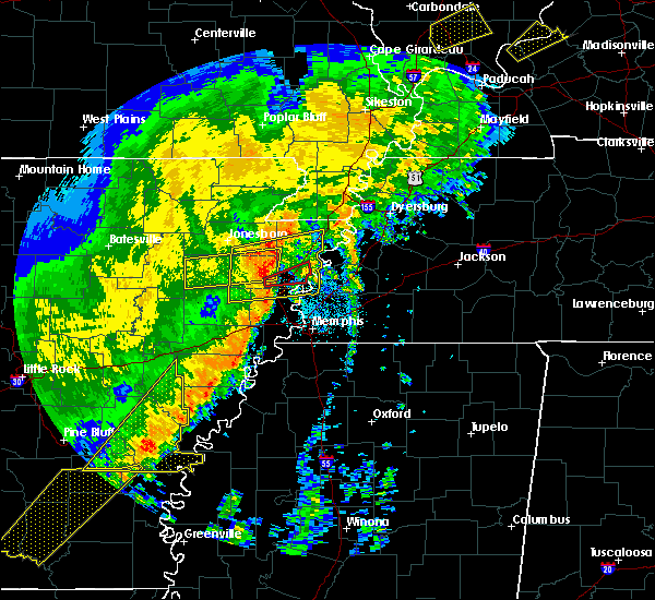 Radar Image for Severe Thunderstorms near Memphis, TN at 10/21/2019 5:59 AM CDT