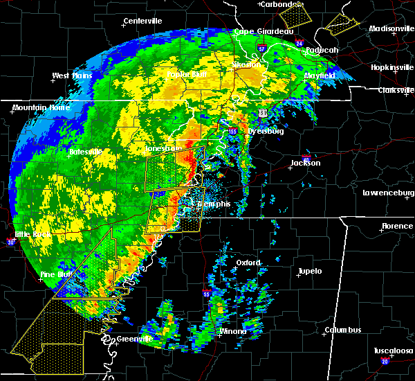 Radar Image for Severe Thunderstorms near Blytheville, AR at 10/21/2019 6:16 AM CDT