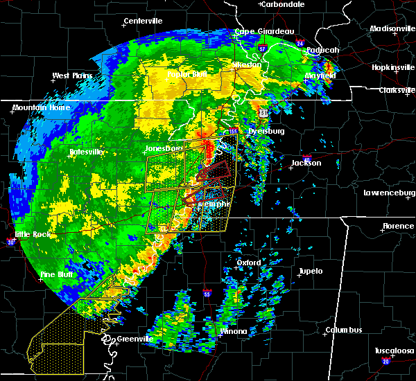 Radar Image for Severe Thunderstorms near Memphis, TN at 10/21/2019 6:29 AM CDT