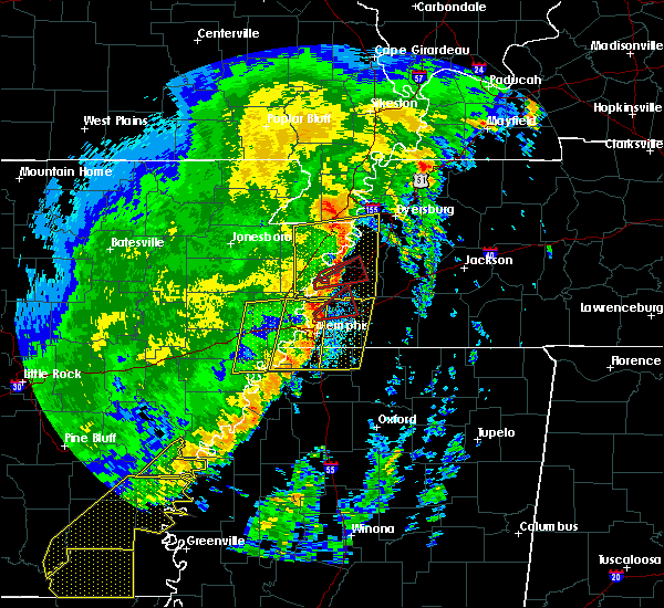Radar Image for Severe Thunderstorms near Blytheville, AR at 10/21/2019 6:39 AM CDT