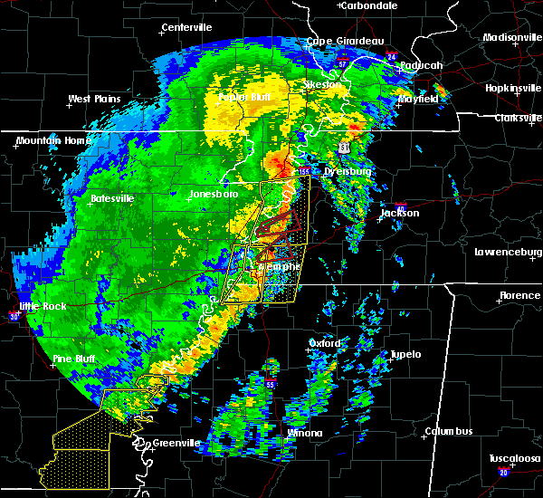 Radar Image for Severe Thunderstorms near Memphis, TN at 10/21/2019 6:43 AM CDT