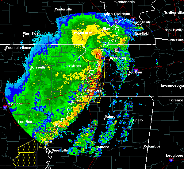 Radar Image for Severe Thunderstorms near Memphis, TN at 10/21/2019 6:50 AM CDT