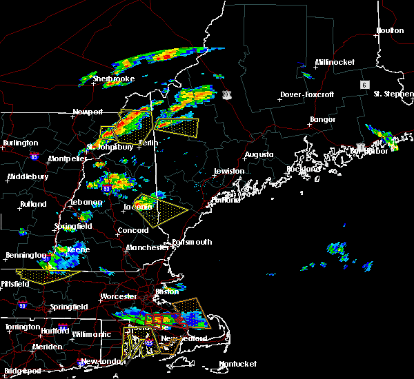 Radar Image for Severe Thunderstorms near Milton, NH at 6/23/2015 6:18 PM EDT