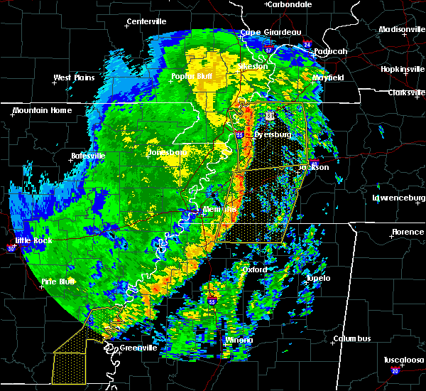 Radar Image for Severe Thunderstorms near Memphis, TN at 10/21/2019 7:06 AM CDT