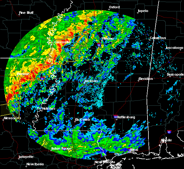 Radar Image for Severe Thunderstorms near Sunflower, MS at 10/21/2019 8:00 AM CDT