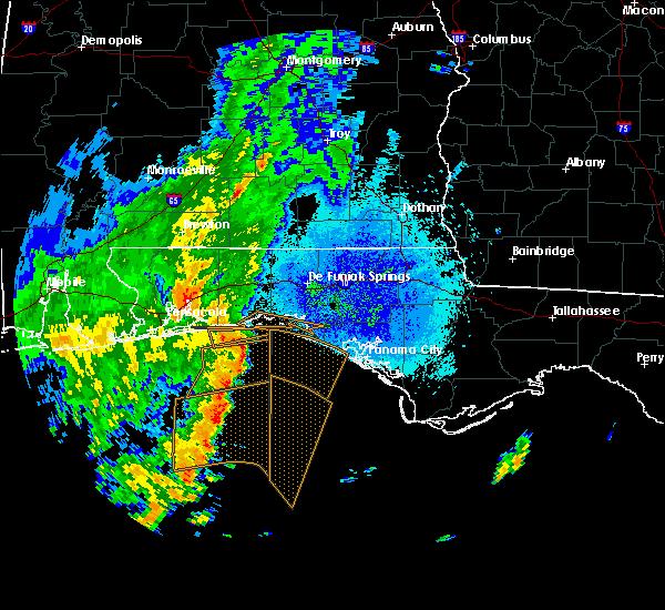 Radar Image for Severe Thunderstorms near Destin, FL at 10/21/2019 7:55 PM CDT