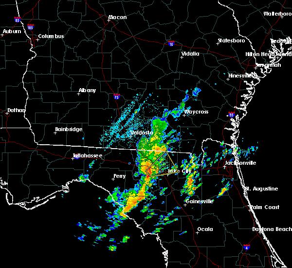 Radar Image for Severe Thunderstorms near Live Oak, FL at 10/22/2019 1:23 PM EDT