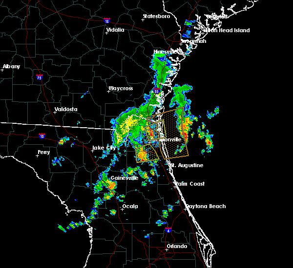 Radar Image for Severe Thunderstorms near Jacksonville, FL at 10/22/2019 3:35 PM EDT