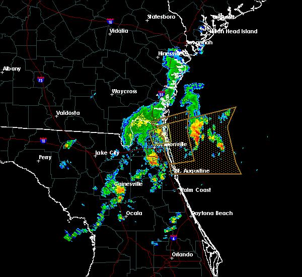 Radar Image for Severe Thunderstorms near Jacksonville, FL at 10/22/2019 3:46 PM EDT