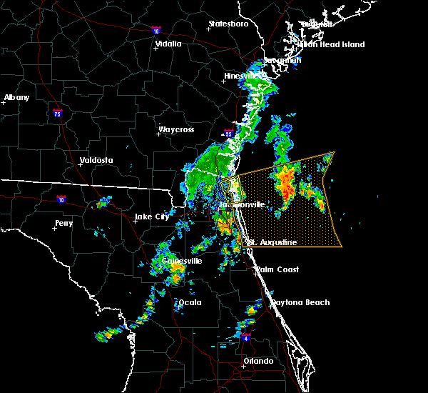 Radar Image for Severe Thunderstorms near Yulee, FL at 10/22/2019 3:56 PM EDT
