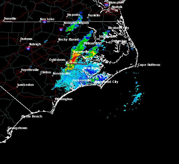 Radar Image for Severe Thunderstorms near Vanceboro, NC at 10/22/2019 7:25 PM EDT