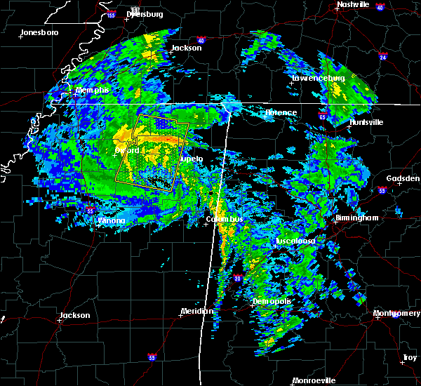 Radar Image for Severe Thunderstorms near Saltillo, MS at 10/26/2019 11:48 AM CDT