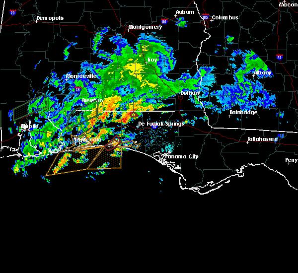 Radar Image for Severe Thunderstorms near Destin, FL at 10/30/2019 6:25 PM CDT