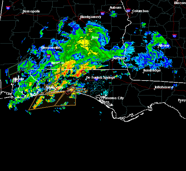 Radar Image for Severe Thunderstorms near Ocean City, FL at 10/30/2019 6:29 PM CDT