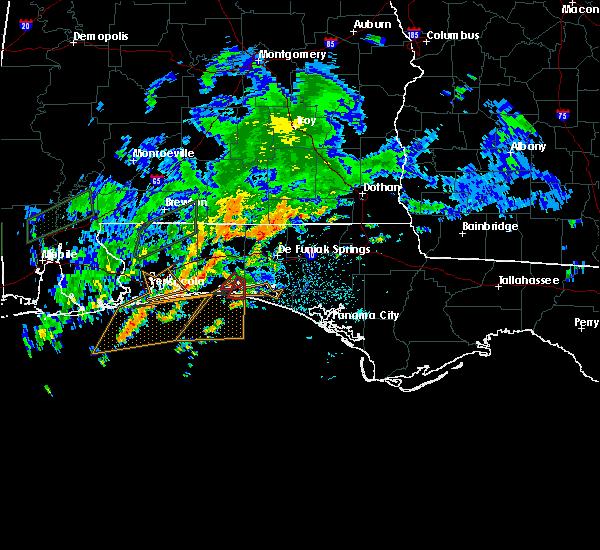 Radar Image for Severe Thunderstorms near Destin, FL at 10/30/2019 6:43 PM CDT