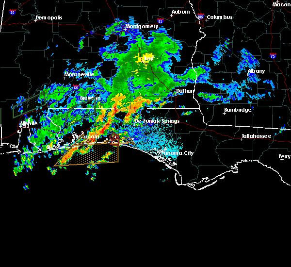 Radar Image for Severe Thunderstorms near Destin, FL at 10/30/2019 6:53 PM CDT