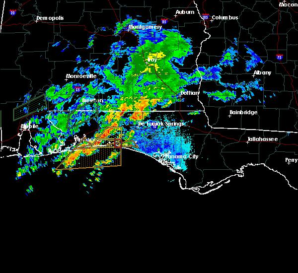 Radar Image for Severe Thunderstorms near Destin, FL at 10/30/2019 7:07 PM CDT
