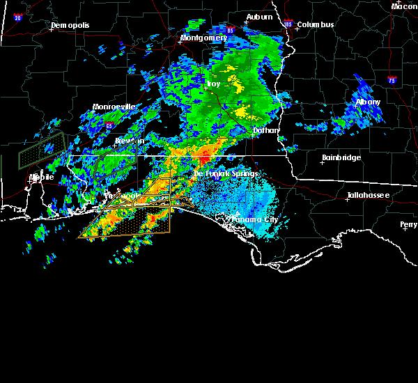 Radar Image for Severe Thunderstorms near Ocean City, FL at 10/30/2019 7:37 PM CDT