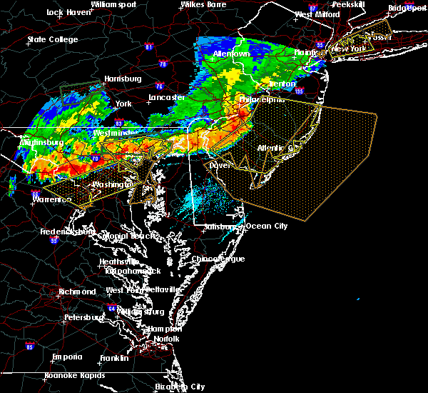 Radar Image for Severe Thunderstorms near Riverside, MD at 6/23/2015 6:35 PM EDT